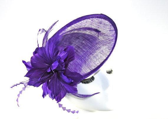 Свадьба - Purple Fascinator Hat - Purple Kentucky Derby Fascinator Hat - Wedding Fascinator Hat - Tea Party Fascinator hat - fancy English Hat