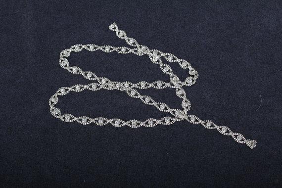 زفاف - Silver Belt For Mint Green Bridesmaid Dress