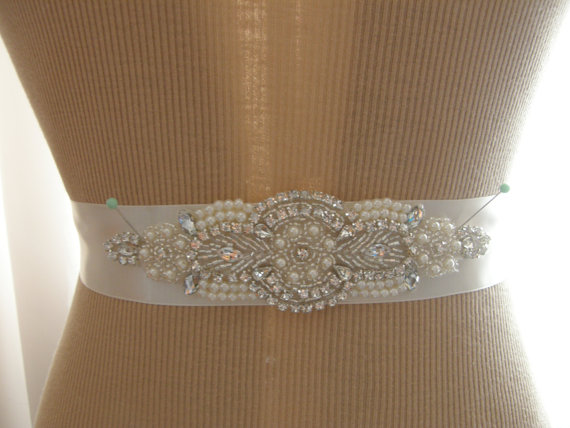 Wedding - Wedding Belt, Bridal Belt, Bridesmaid Belt, Sash Belt, Wedding Sash, Bridal Sash, Belt, Crystal Rhinestone & Pearl