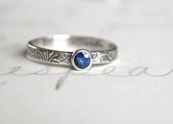 زفاف - fair trade blue sapphire engagement ring . engraved engagement ring . alternative engagement ring peacesofindigo . ready to ship size 11.75