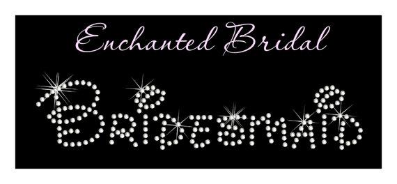 Mariage - Disney Bridesmaid Rhinestone Transfer DIY Wedding Bling