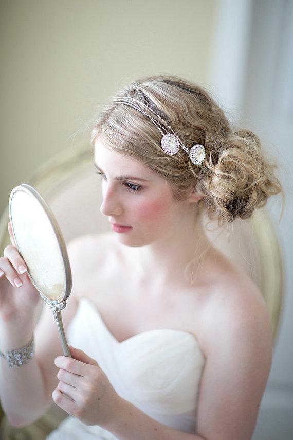 Wedding - Bridal Hair Accessory, Crystal Rhinestone Hair Wrap, Wedding Head Piece, Wedding Hair Accessory, Bridal Headband