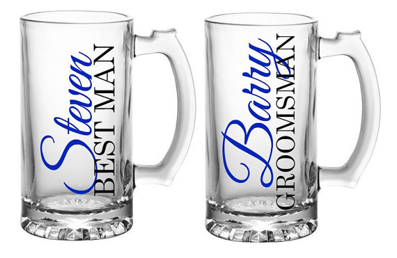 Wedding Gift Beer Mugs : ... Mugs, Groomsmen Beer Mugs, Grooms Mug, Groomsmen Gift, Best Man Gift