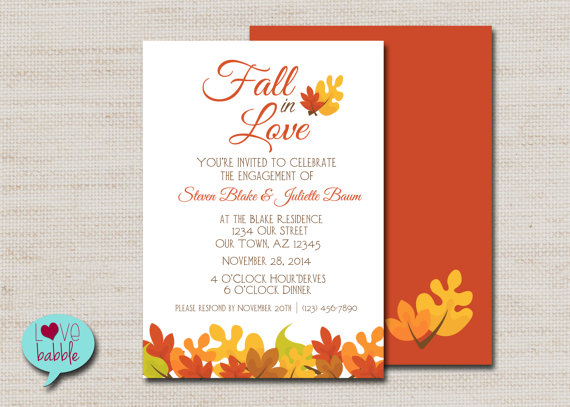 Fall Engagement Party, Fall Wedding, Couple's Bridal Shower ...