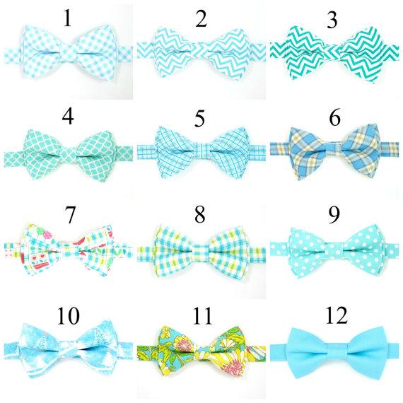 زفاف - Boys bow tie, Baby bow tie, Blue bow tie,Men bow tie, Wedding bow ties, Groomsmen bow tie, Ring bearer bow tie,Turquoise Bow tie