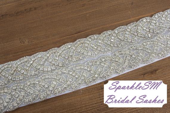 زفاف - Bridal Sash, Wedding Sash, Bridal Belt, Crystal Sash, Rhinestone Sash, Jeweled Belt, Bridal Belt, Wedding Gown Belt Bridal Belt  - Adeline