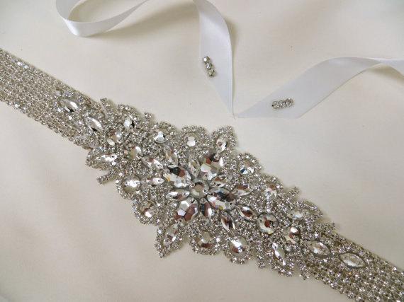 زفاف - Rhinestone Bridal Sash, Wedding Gown Accessory, Bridal Crystal Sash,  Bridal Rhinestone Belt, Art Deco Sash, Art Deco Belt