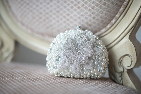 Mariage - Wedding Purse, Bridal Clutch, Beaded Wedding Handbag