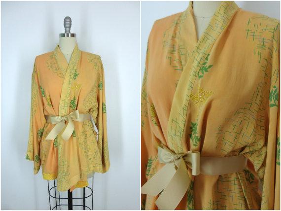 Kimono / Silk Kimono Robe / Kimono Cardigan / Kimono Jacket ...