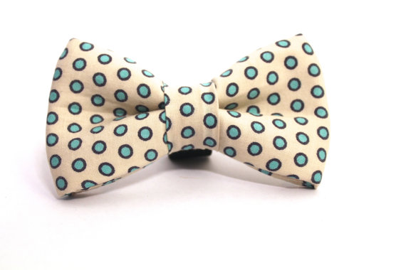 زفاف - Dog Bow Tie, Sky Blue Polka Dot Bow Tie, Polka Dot Dog Bow Tie