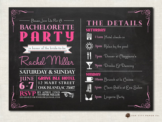 Bachelorette Invitation Bachelorette Party Invitation – Bachelorette Party Invitation Templates