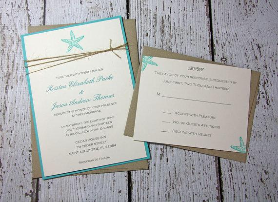 sample starfish wedding invitations beach wedding invitation summer