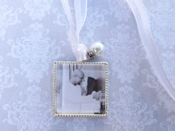 Wedding - Wedding Bouquet Charm, Bridal Bouquet Photo Charm- PICTURE PRINTING INCLUDED