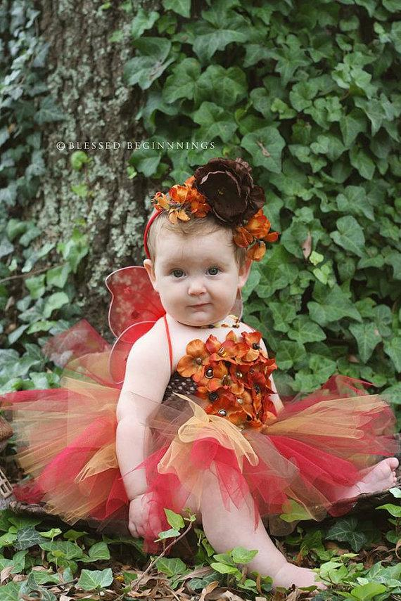 fairy costume fall fairy faerie dress fairy tutu flower girl dress pixie dress nymph. Black Bedroom Furniture Sets. Home Design Ideas