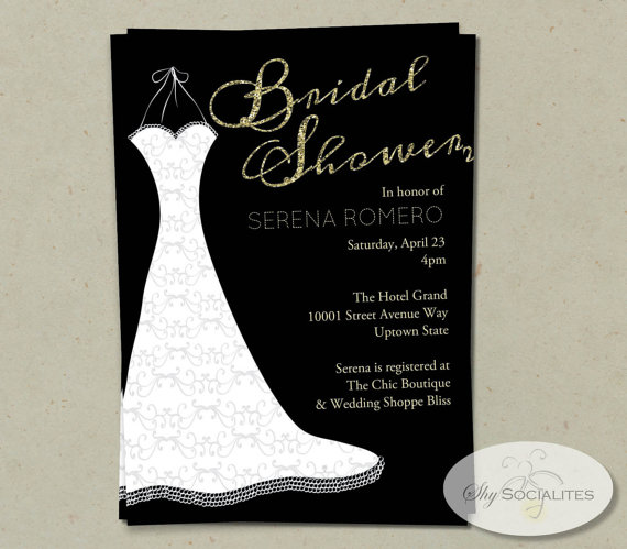 Mariage - Wedding Dress Bridal Shower Invitation