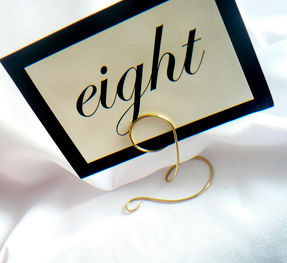 Table Number Holders Unique Wedding Decorations Reception Sign Stands Card 4pcs