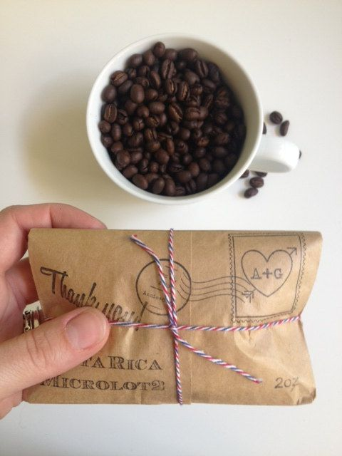 Unique Airmail Wedding Favors. Coffee Party Favors Set Of 30. Spring ...