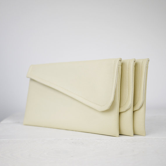 Hochzeit - Simple ivory clutch