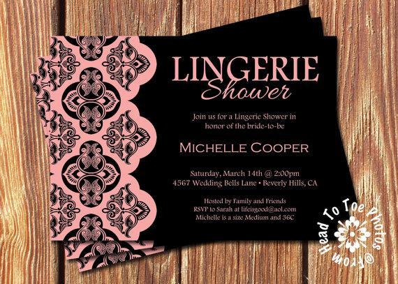 Wedding - Lingerie Shower Invitations •Pick your Color