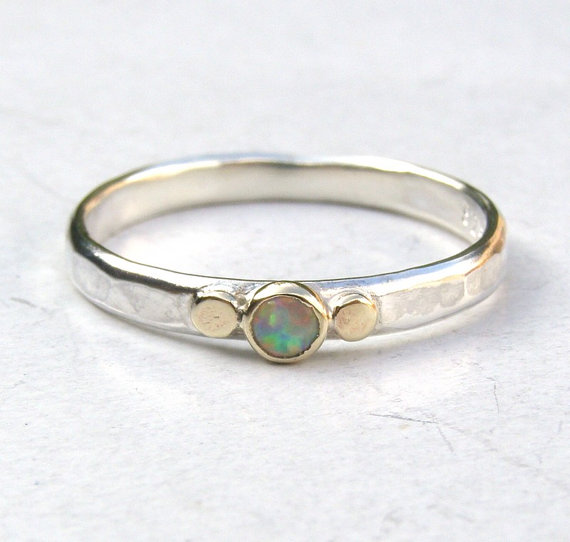 Свадьба - White opal Gemestone Engagement Ring - 14k gold ring silver ring Opal  ring, Sale for holidays, New year gift- MADE TO ORDER