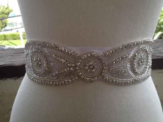 Mariage - Bridal Sash,Wedding Sash Belt, Luxury Wedding Belt Sash , Best Seller Bridal, Rhinestone  Beaded Sash Belt
