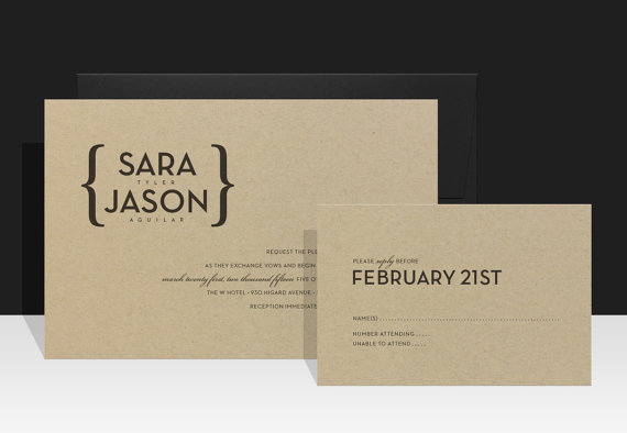 زفاف - Urban Wedding Invitation - Modern & Urban Wedding - Sara