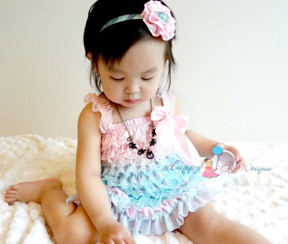 زفاف - wedding flower girl, girls dress, Aqua Pink Petti Lace Dress, ruffle dress, baby dress, Birthday outfit, girls outfit, flower girl dress
