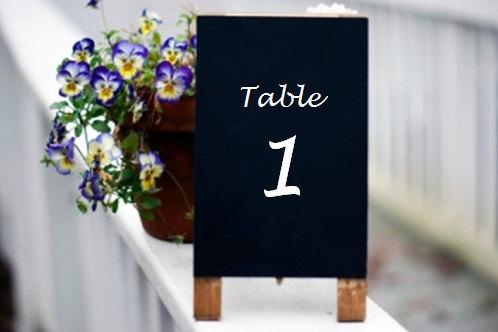 Wedding - Rustic Wedding Table Numbers - Chalkboard Table Numbers - Shabby Chic Wedding - Wedding Chalkboard Table Numbers