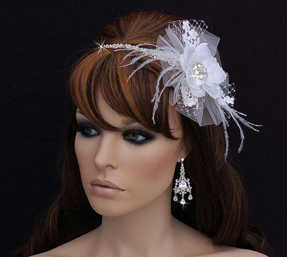 Mariage - Vintage Crystal Headband , Art Deco Bridal Headpiece , Bridal Hair Accessory , Wedding Headband , Crystal Bachelorette Headband