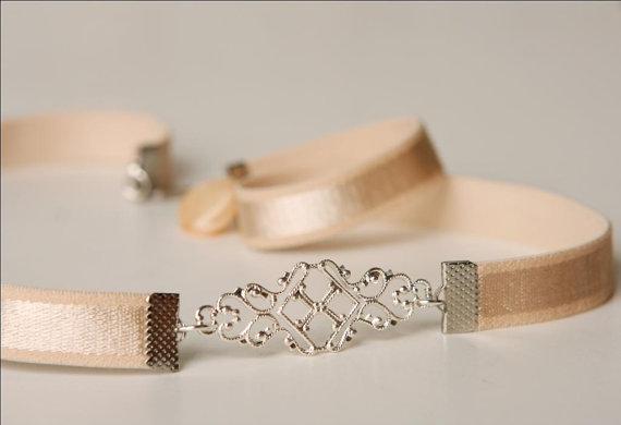 Свадьба - Bridal Belt - Silver Belt - Nude Belt - Wedding Belt - Stretch Belt - Bridesmaids Belt - Wedding Accessories - Bridal Accessories