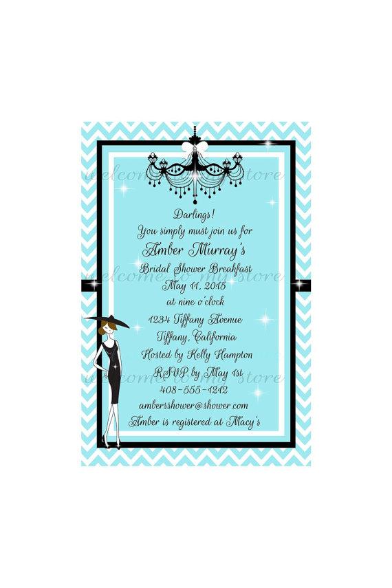 Bridal Shower Invitation Breakfast At Tiffany's Wedding ...