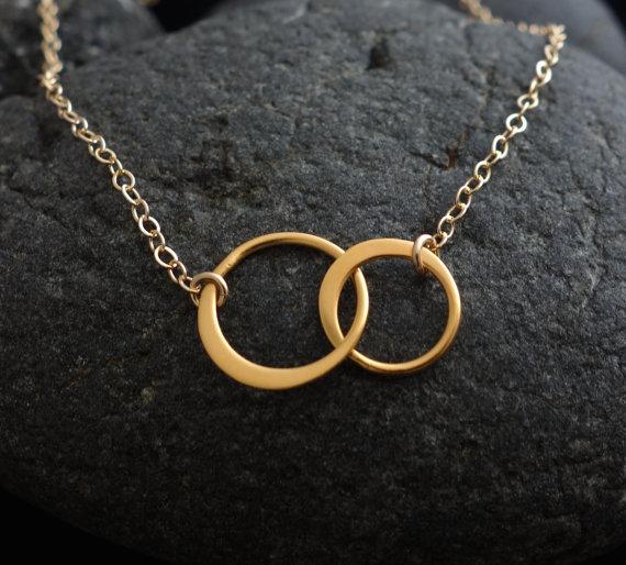 circle necklace gold circle necklace interlocking circle