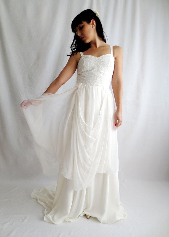 Wedding dress boho wedding dress bohemian dress hippie for Alternative plus size wedding dresses
