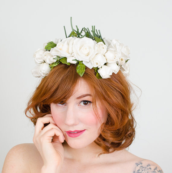 Wedding - 1950s vintage hat / flower hat / Bridal Bouquet