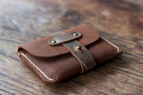 Свадьба - Leather Credit Card Holder -- JooJoobs Original Treasure Chest Wallet - 011 - Groomsmen Bridesmaids Gifts