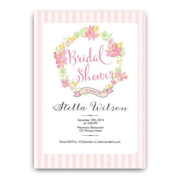 bridal shower invitation wedding shower invitation shabby chic wedding gown floral rose pearl invitation card design elegant card 130