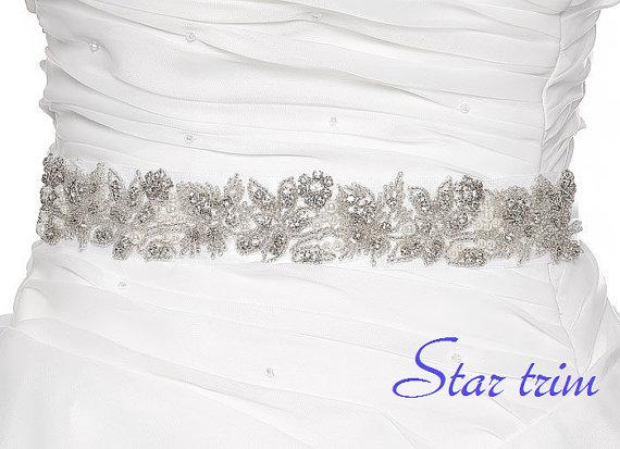 Wedding - SALE GABBY Wedding Belt, Bridal Belt, Sash Belt, Crystal Rhinestones & Pearls