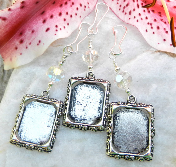 Wedding Bouquet Photo Charms Bridal Memory Set Of 3 Crystal