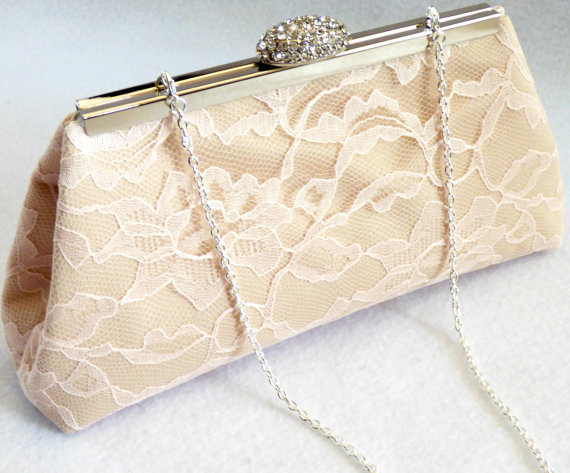 bridesmaid gift clutch champagne blush pink and ivory bridal clutch wedding clutch mother of the bride gift bridal shower gift