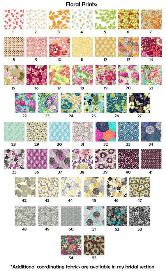 زفاف - Bridesmaid Clutch Wedding Clutch You Choose Floral Flower Bouquet Fabrics Set of 5