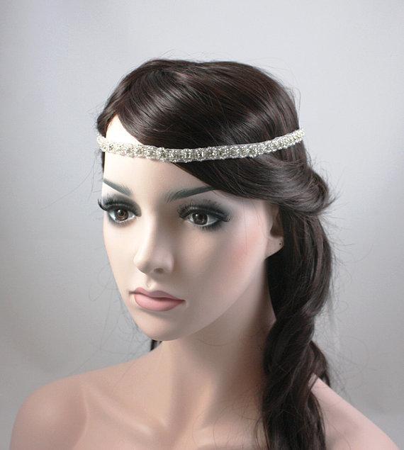 ROSABEL - Vintage Inspired Crystal Bridal Headband, Wedding ...