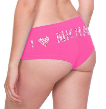 Hochzeit - VALENTINE'S DAY Personalized Rhinestone Panties - Lingerie Shower, Bachelorette Party, Bridal Shower Gift, Lover