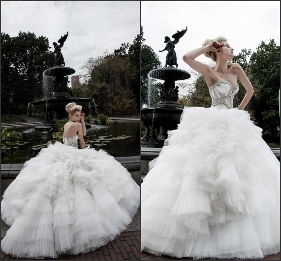 Romantic Ball Gowns Spring Beads Wedding Dresses 2015 Pnina Tornai A ...