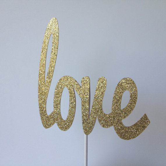 Свадьба - Love Glitter Cake Topper - Wedding Cake Topper - Wedding Shower Cake Topper - Bridal Shower Cake Topper - Laser Cut