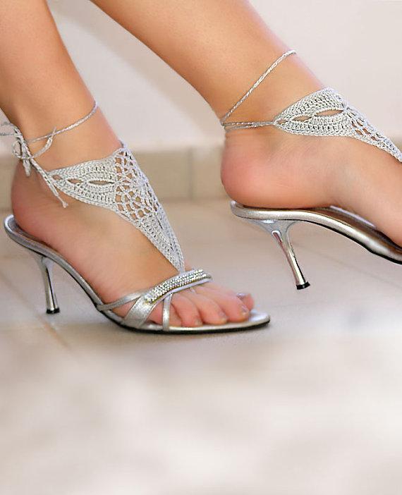 barefoot sandles barefoot sandals wedding beach party crochet sandals foot jewelry leg decoration hippie sandals