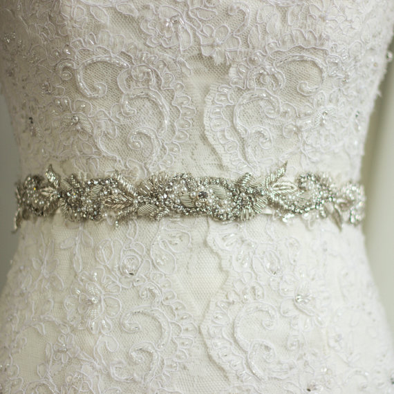 Wedding Belt Sash Rhinestone Sash Wedding Dress Belt Sash Bridal