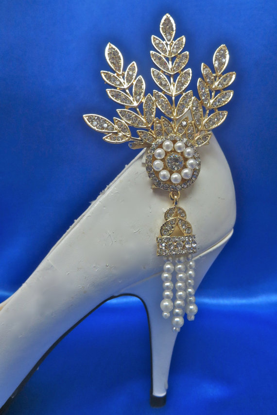 Mariage - Art Deco Shoes, Art Deco Wedding, Art Deco Clips, Art Deco Bride, Art Deco Party, Art Deco Accessory, Flapper 1920s Accessory