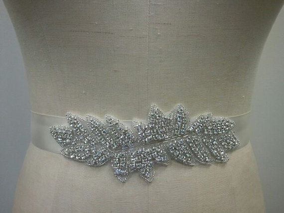 Свадьба - SALE - Wedding Belt, Bridal Belt, Bridesmaid Belt, Bridesmaid Belt, Crystal Rhinestone - Style B233