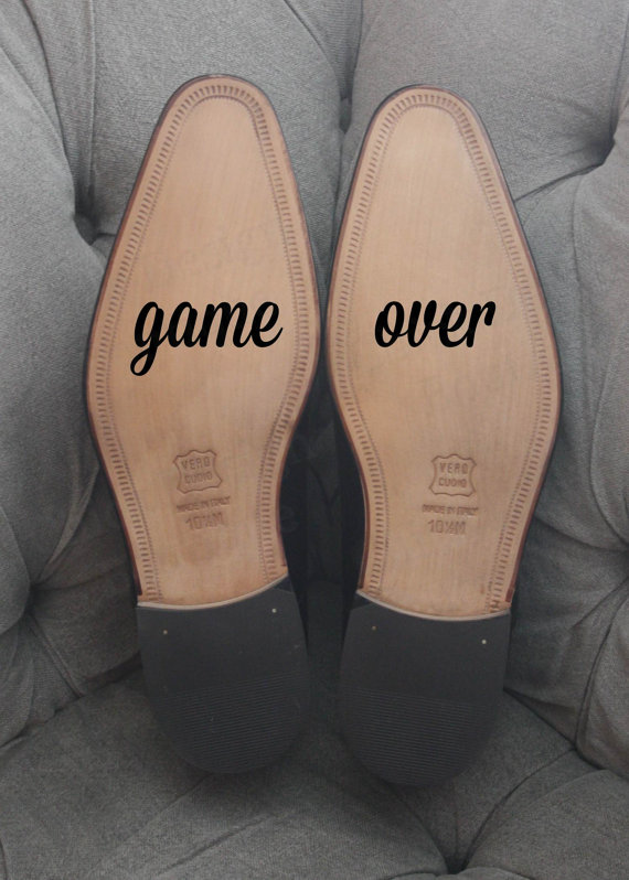 Mariage - Game Over - Groom's Wedding Shoe Vinyl Decal