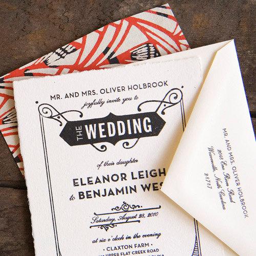 Printable Gatsby Wedding Invitation, Letterpress, Art Deco, Art ...